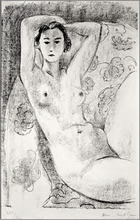Henri MATISSE (1869-1954) - Nu Assis Dans un Fauteuil au Décor Fleuri
