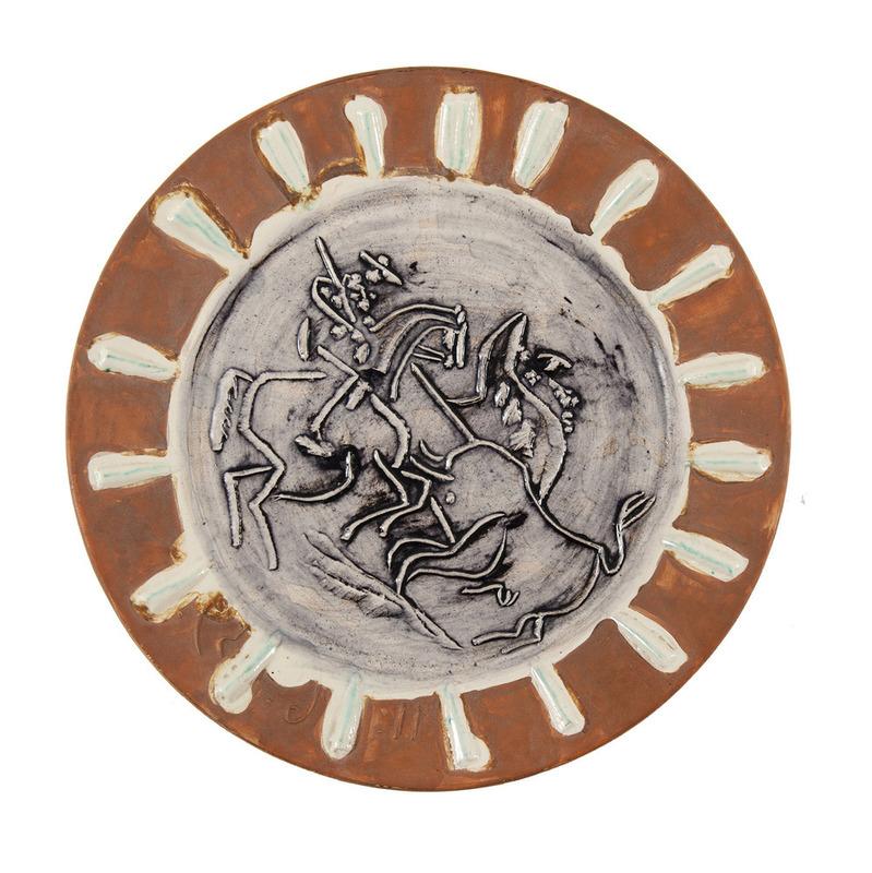 Pablo PICASSO - Ceramic - Scène de tauromachie , 11 juin 1959 OEUVRENOTICEEXPOSFRAISAC