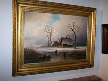 Johann Gustav LANGE - Painting - winter ice fun