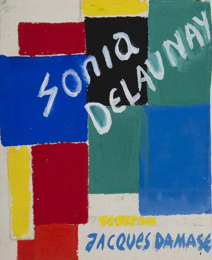 Sonia DELAUNAY-TERK - Disegno Acquarello - Projet de couverture