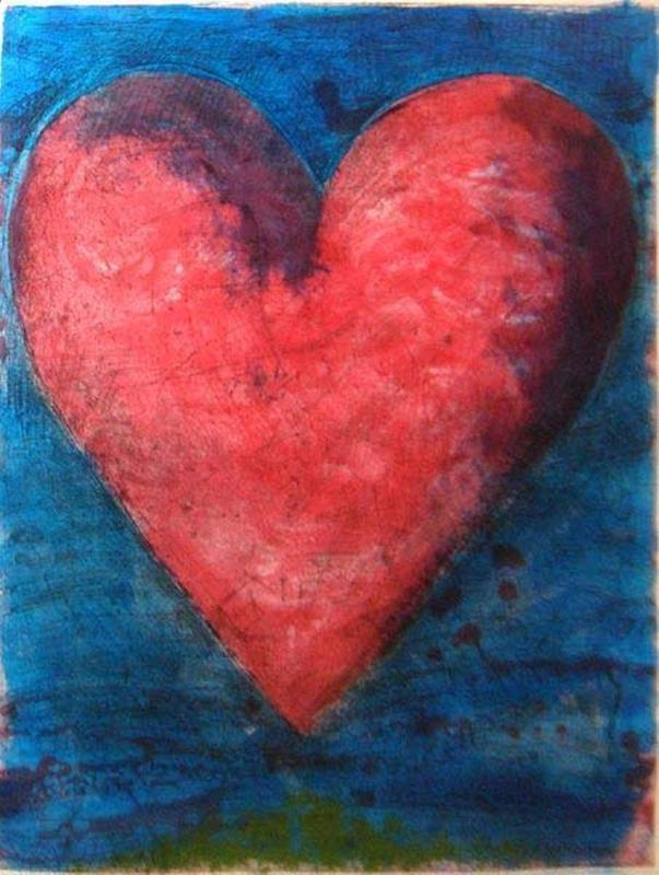 Jim DINE - Print-Multiple - A Heart on the Rue de Grenelle