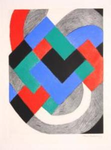 Sonia DELAUNAY-TERK, Composition with White Arc