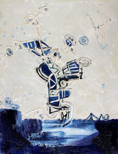 Pinot GALLIZIO - Pintura - HOMMAGE À UN VIKING - 1961