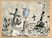André Albert Marie DUNOYER DE SEGONZAC - Dibujo Acuarela - DESSIN ENCRE ET LAVIS SIGNÉ ADS HANDSIGNED INK DRAWING