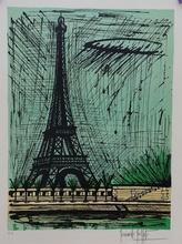 贝纳•毕费 - 版画 - PARIS  TOUR EIFFEL
