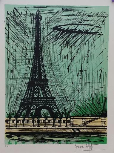 Bernard BUFFET - Grabado - PARIS  TOUR EIFFEL