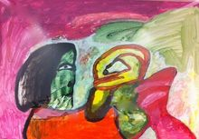 LUCEBERT - Peinture - untitled