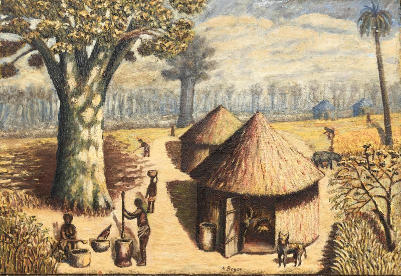 André BOYER - 绘画 - scéne de village