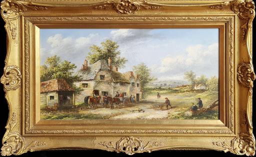 Edwin MASTERS - Pittura - Village Life