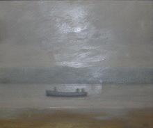 Antonio LAGO RIVERA - Peinture - paisaje con barca