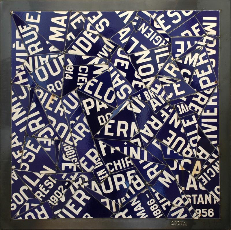 Fernando DA COSTA - Sculpture-Volume - Rues de Brive Bleues
