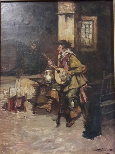 Máximo Juderiás CABALLERO - Painting - MOSQUETERO TROVADOR