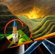 Divina SABATÉ - Painting - En e, Tiempo nº 4