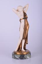Johann Philipp PREISS - Escultura - Untitled (Standing Female Half Nude)