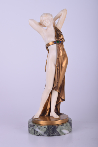 Johann Philipp Ferdinand PREISS - Escultura - Untitled (Standing Female Half Nude)