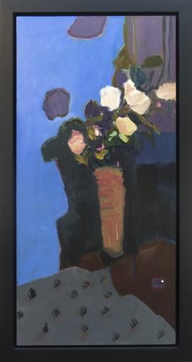 Jennifer HORNYAK - Pintura - Rose Blanche Avec Nappe