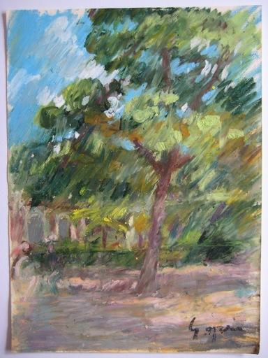 Pierre GOGOIS - Drawing-Watercolor - 5 DESSINS AU PASTEL GRAS SIGNÉS SIGNED PASTEL DRAWINGS