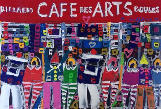 Michel GODJEVAC - Pintura - Le café des arts