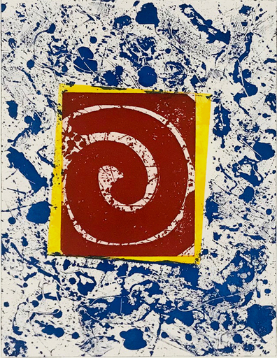 Sam FRANCIS - Grabado - Untitled SFE-003 (Blue, Red and Yellow)