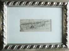 """Jean POUGNY - Drawing-Watercolor - """"Le port II """""""