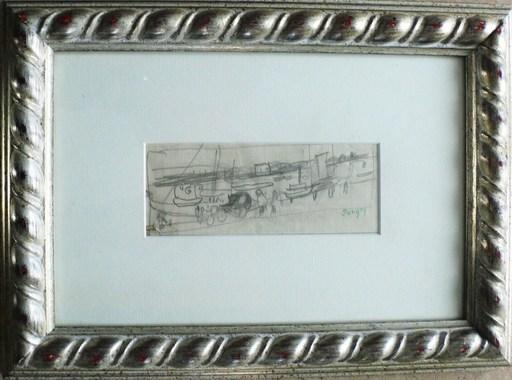 """Jean POUGNY - Dibujo Acuarela - """"Le port II """""""
