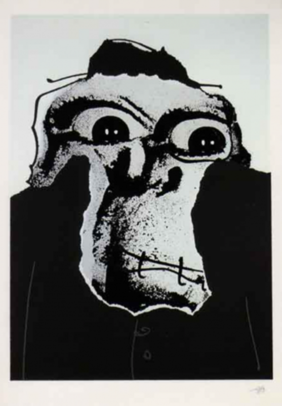 Antonio SAURA - Print-Multiple - Moi, Planche 12
