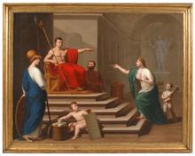 "Francesco ALBERI - Pintura - ""Napoleon as Liberator of Italy"", important painting"