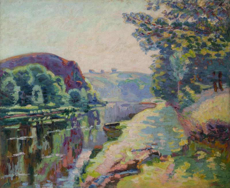 Maurice DE VLAMINCK - Peinture - La roche de l'écho à Crozant