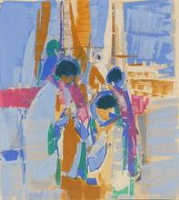 Gabriel GODARD - Drawing-Watercolor - Sur le port
