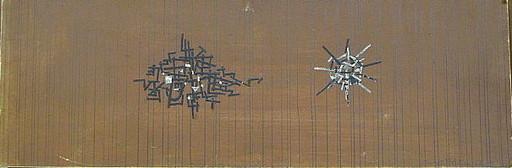 Arnold FIEDLER - Dessin-Aquarelle - Wand Entwurf *Die Stadt*