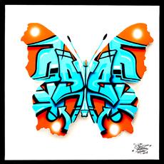Sylvain LANG - Painting - Urban Butterfly 3 Nemophosa