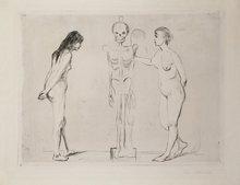 Edvard MUNCH (1863-1944) - The Women and the Skeleton