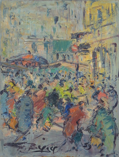 Georges BERGER - Painting - Cityscape