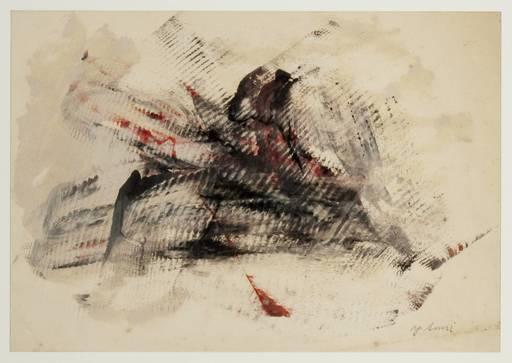 鷲見康夫 - 绘画 - Early Gutai Work Sketch 10