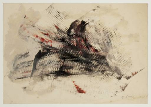 Yasuo SUMI - Peinture - Early Gutai Work Sketch 10