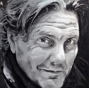 Peter ENGELS - Painting - Peter Engels - self portrait