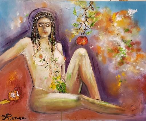 Romeo DOBROTA - Painting - The Last Chance Eve, nude ,