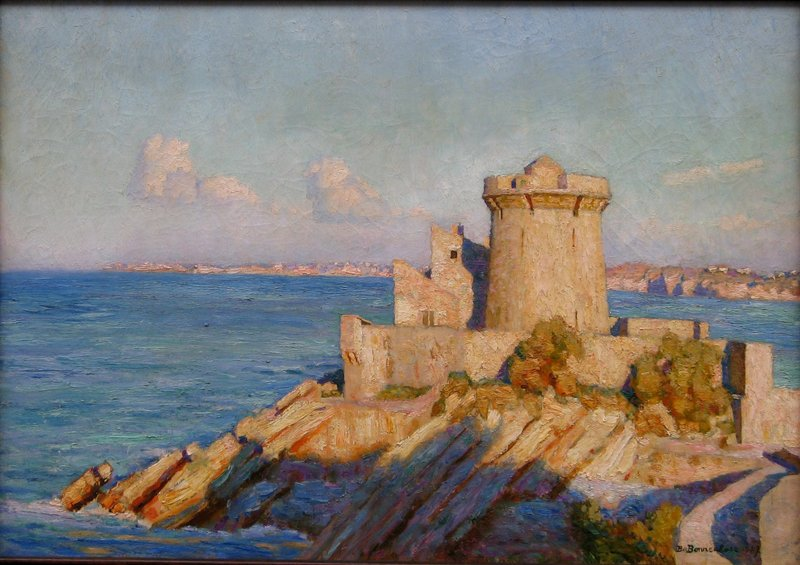 Bertrand DE BONNECHOSE - Pintura - LE FORT DE SOCOA (PAYS BASQUE)