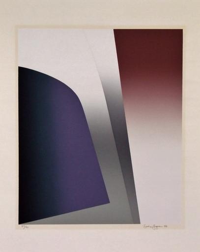 Louis JAQUE - Estampe-Multiple - Les dialogues parallèles III, 1976