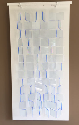 Julio LE PARC - Sculpture-Volume - Mobile Translucide Bleu