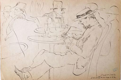 Jules PASCIN - Zeichnung Aquarell - Montparnasse