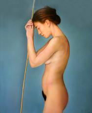 Juan COSSIO - Pintura - Desnudo de perfil