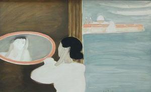 André BRASILIER - Pittura - Le miroir Vénitien