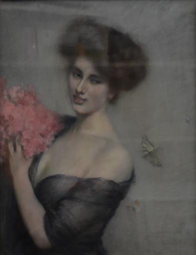 Clemens VON PAUSINGER - Dibujo Acuarela - Bildnis einer Dame