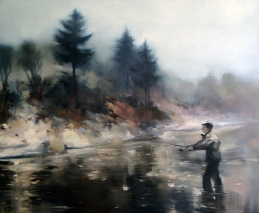 Alise MEDINA - Pintura - Morning fishing