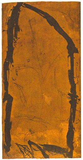 Emil SCHUMACHER - Estampe-Multiple - 2/1993 Bogen II