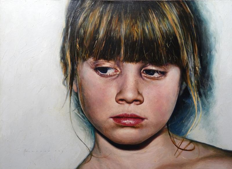 Marcos REY - Peinture - Niña rubia