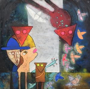 Raúl VASQUEZ SAEZ - Disegno Acquarello - Raul Vasquez Saez Mixed Media Painting
