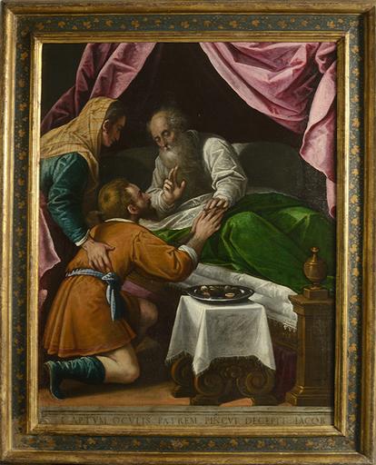 Leandro BASSANO - Pintura - Isaac blesses Jacob