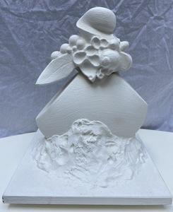 Serge MANSAU - Sculpture-Volume - Sculpture de fruits et feuillages - 1990